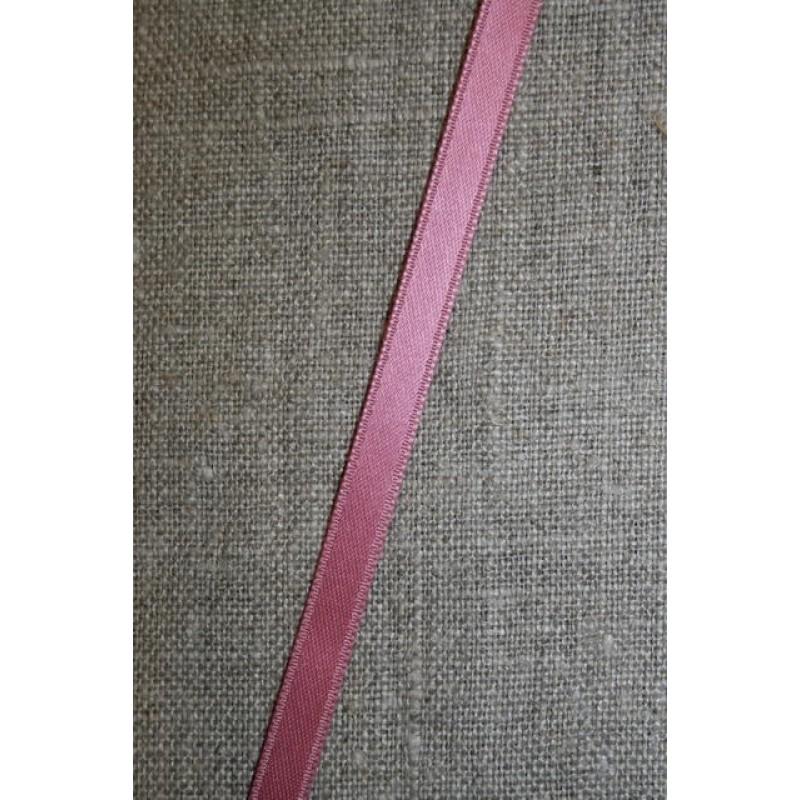 Satinbånd mørk gl. rosa 6 mm.