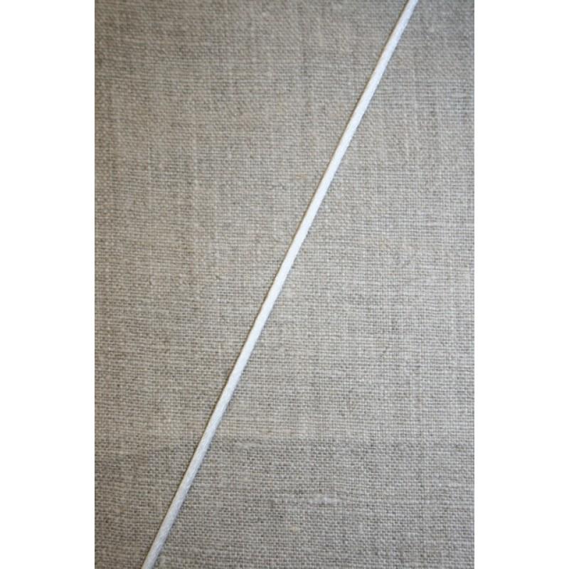 Satinsnor 2,2 mm. hvid