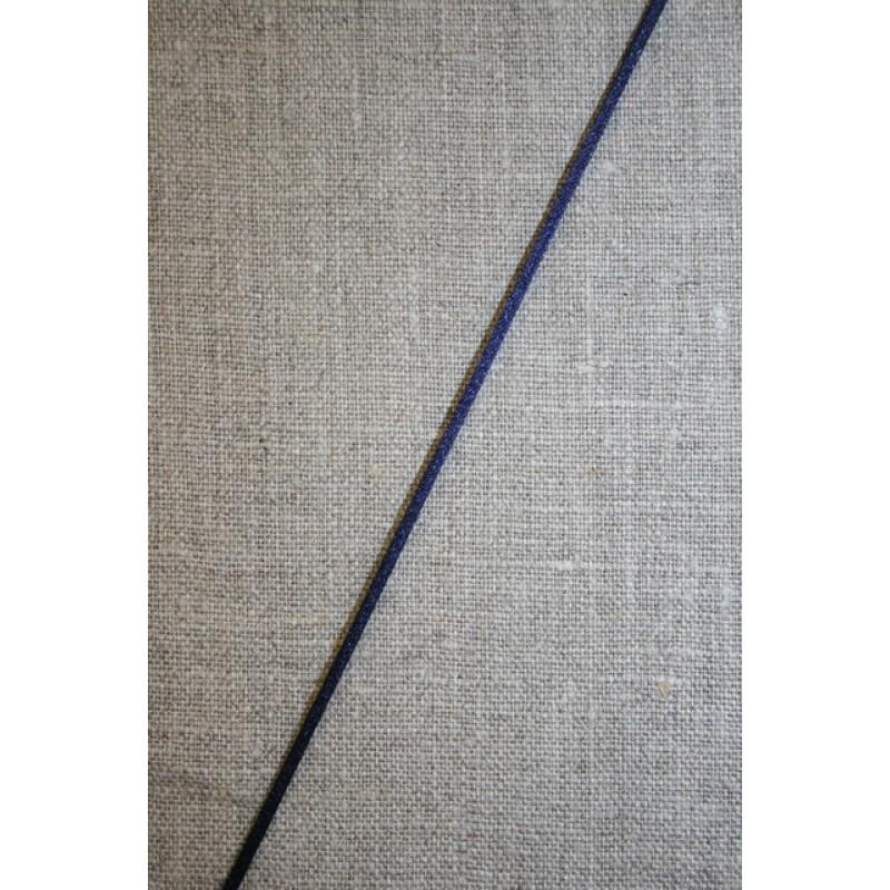 Satinsnor 2,2 mm. marine blå