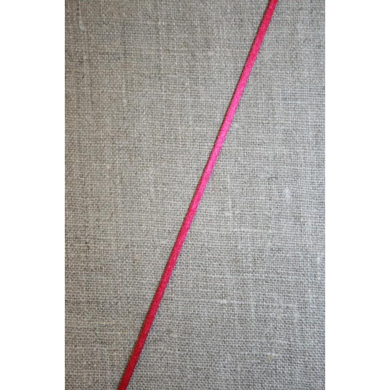 Satinsnor 2,2 mm. rød-pink