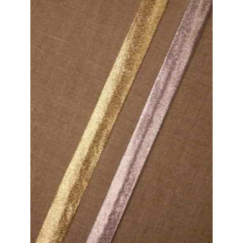 Skråbånd lame, sølv & guld