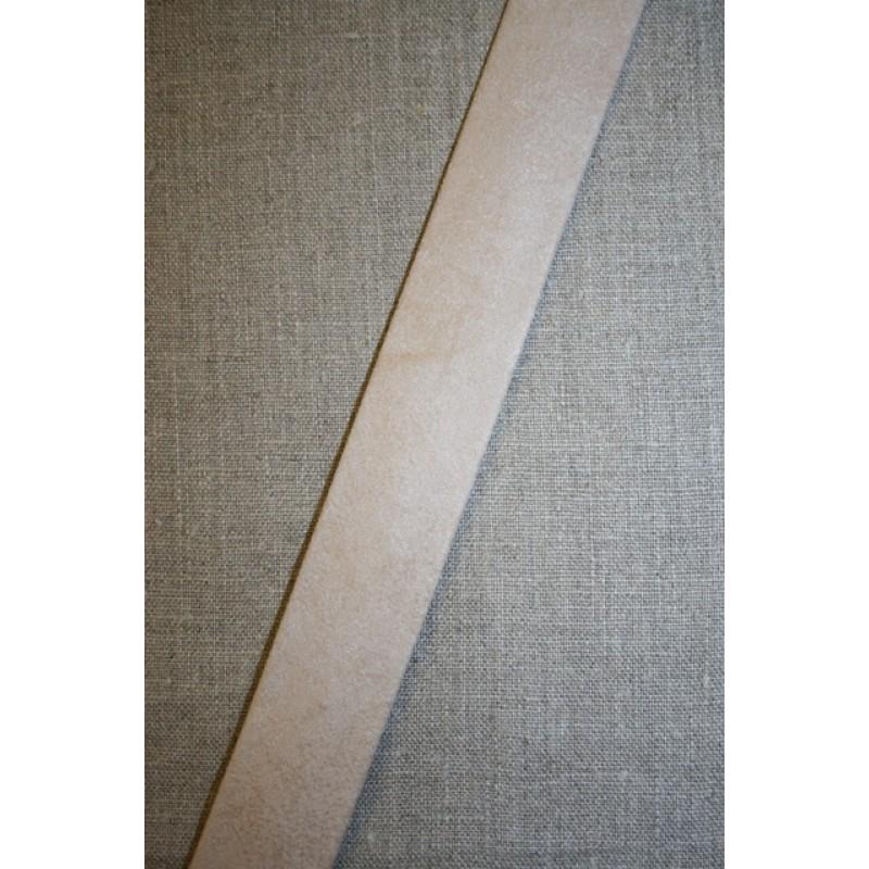 Skråbånd imiteret ruskind, off-white/sand-35