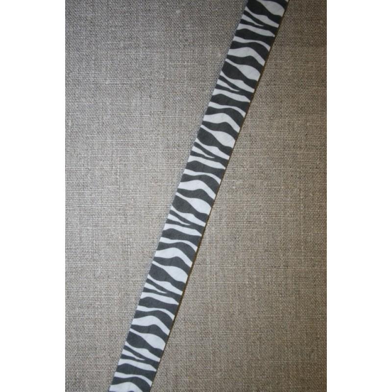 Skråbånd m/dyreprint, zebra-31