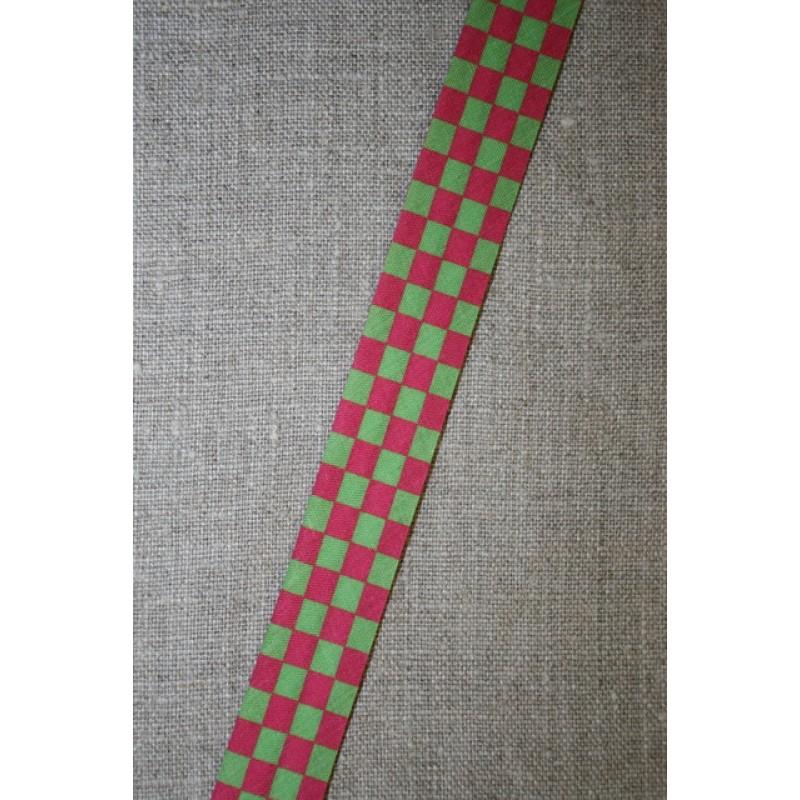 Skråbånd mål-flags-tern, pink/lime-35