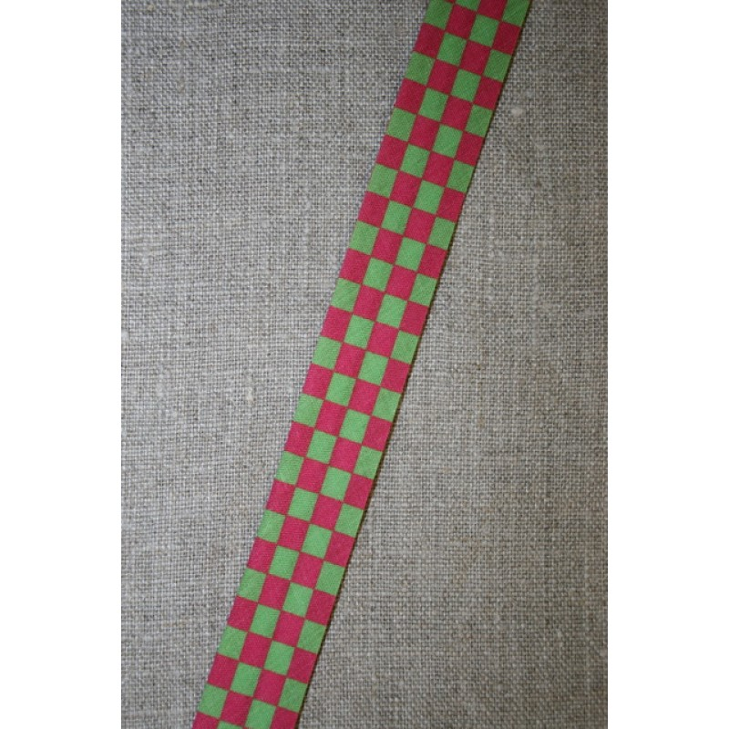 Skråbånd mål-flags-tern, pink/lime