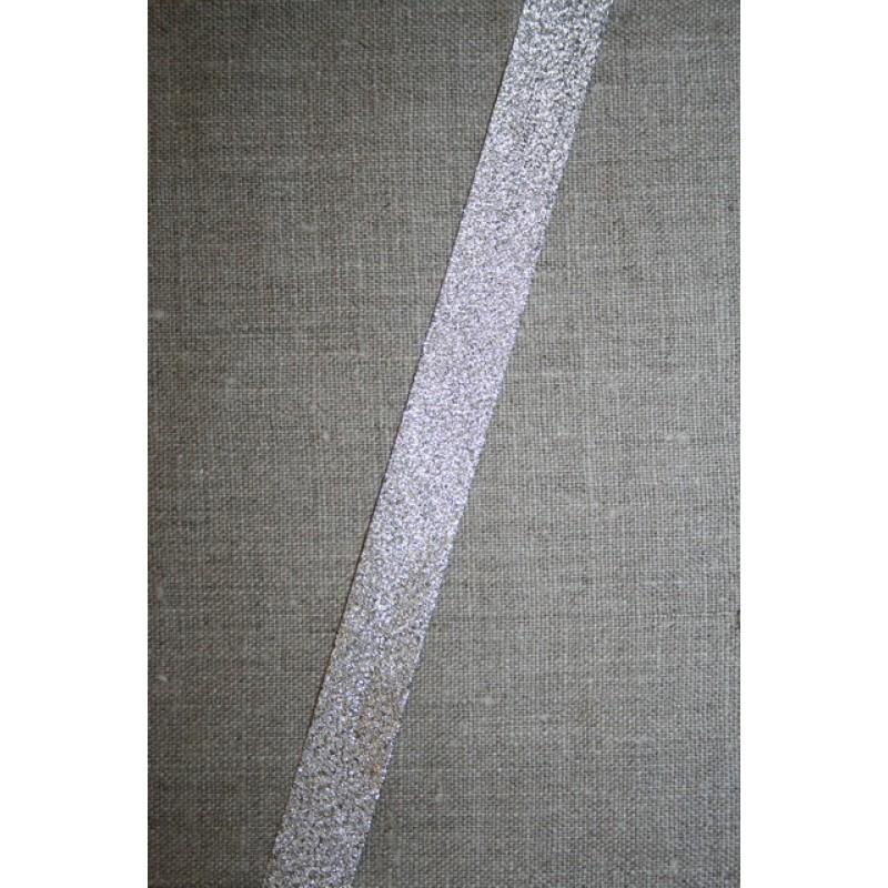 Skråbånd lame, sølv