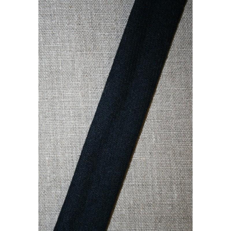 Skråbånd i uld, mørkeblå