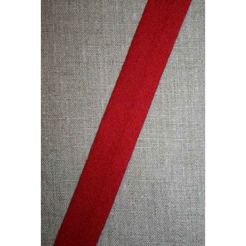 Skråbånd i uld, rød-31