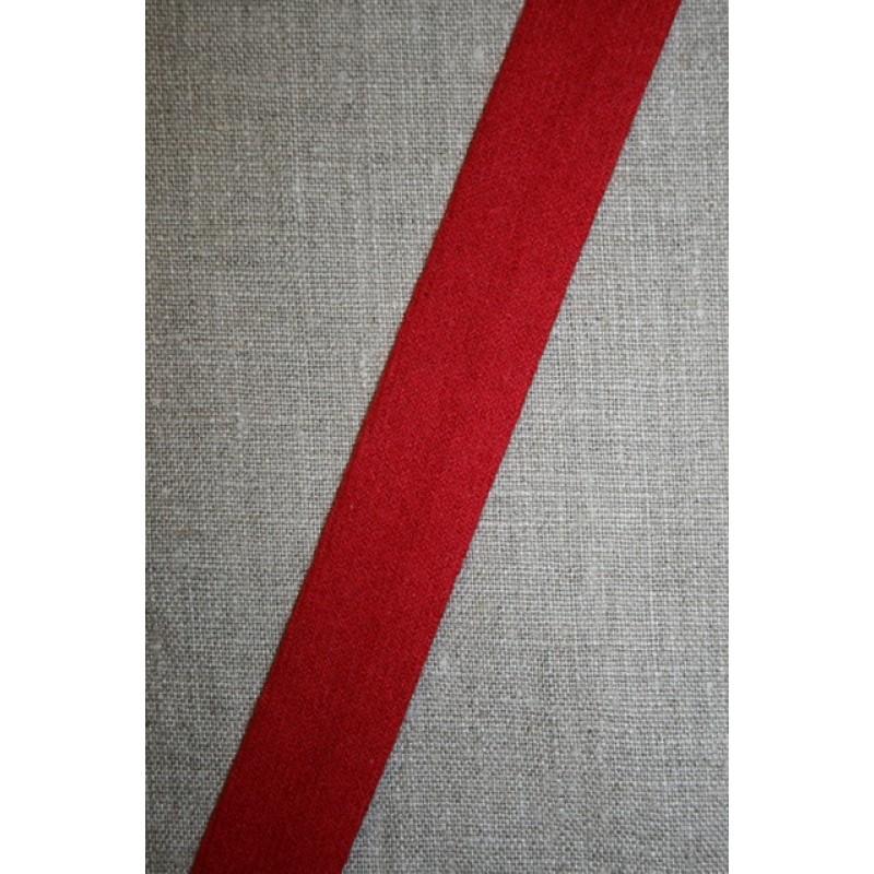 Skråbånd i uld, rød