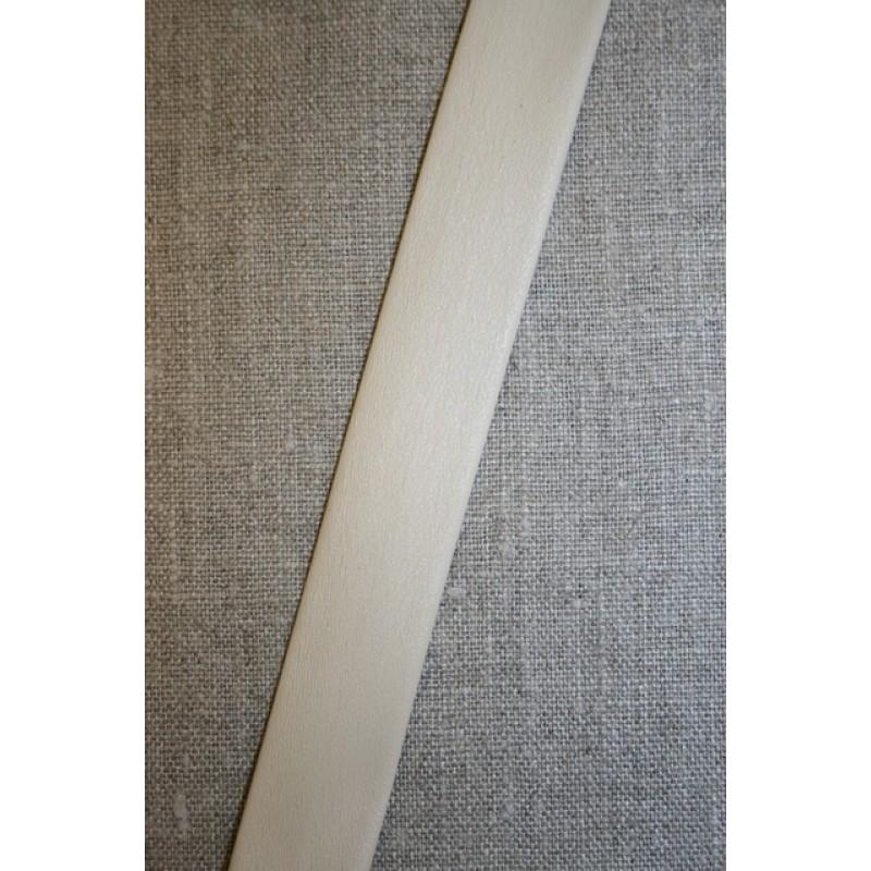 Skråbånd imiteret blød læder, off-white-31