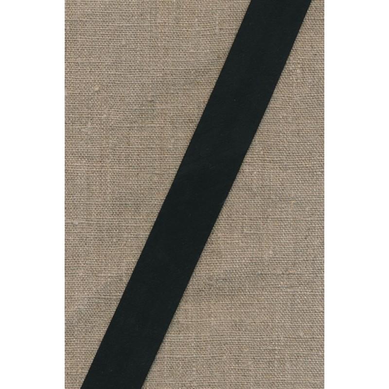 Rest Skråbånd imiteret ruskind, sort 25 mm., 60 cm.-33