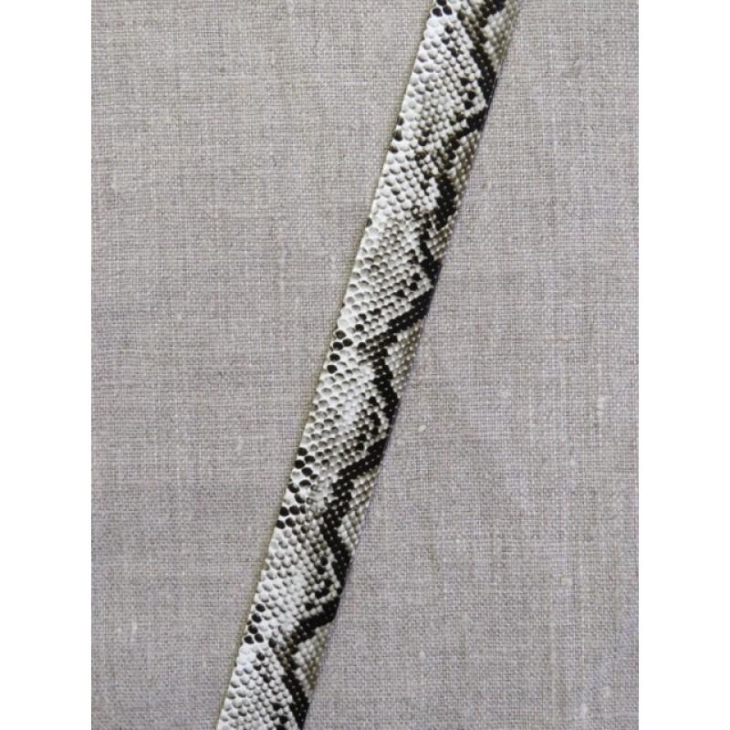 Skråbånd i kunstlæder i slangeprint