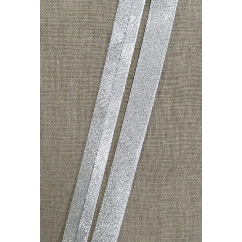 Skråbånd lame i sølv, 20 mm. - Prym