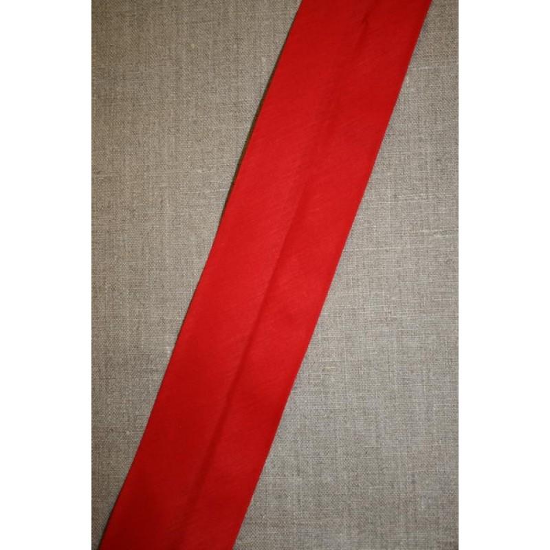 Bred bomulds-skråbånd 60 mm. rød