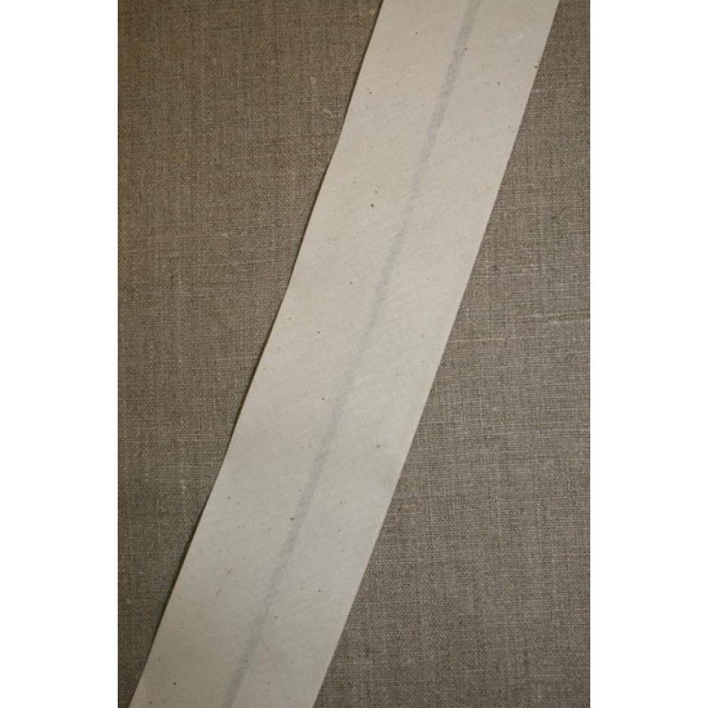 Bred bomulds-skråbånd 60 mm. off-white-31