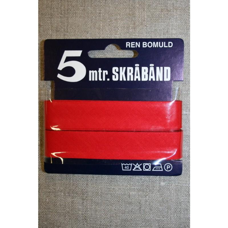 5 meter bomulds-skråbånd, postkasse-rød