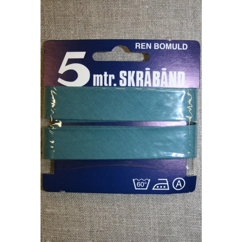 5 meter bomulds-skråbånd, lys petrol-blå-35