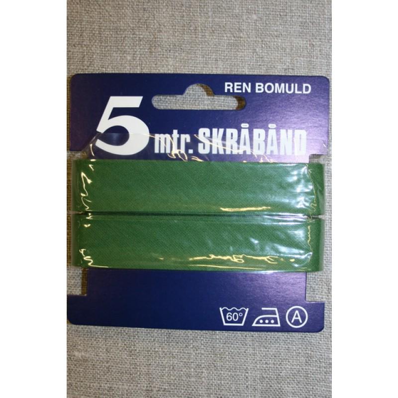 5 meter bomulds-skråbånd, grøn