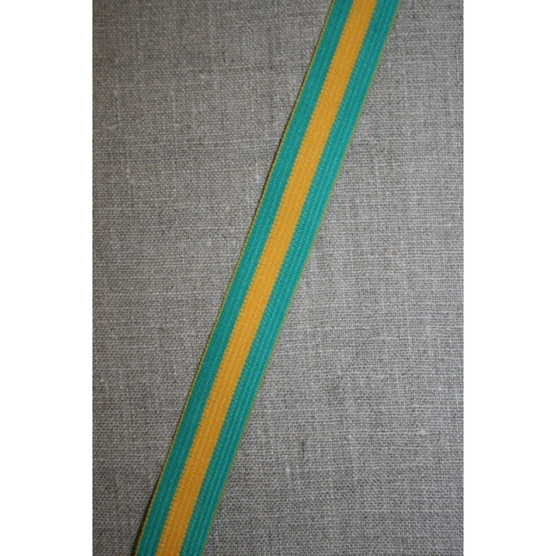Sportsbånd stribet irgrøn og gul-31