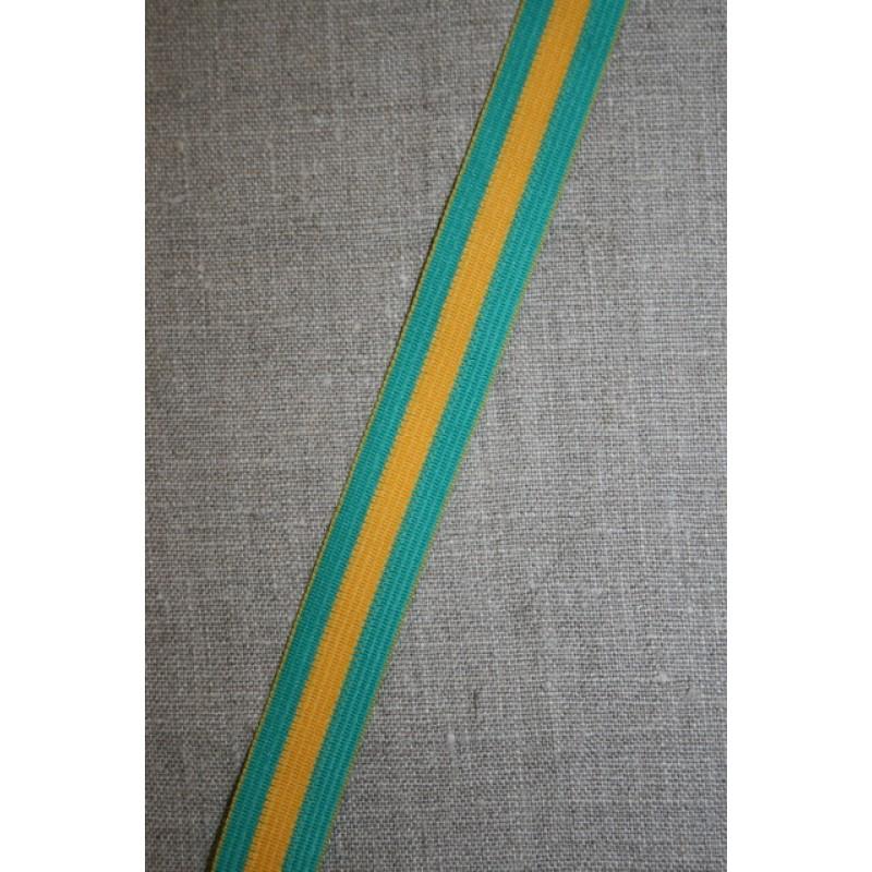 Sportsbånd stribet irgrøn og gul
