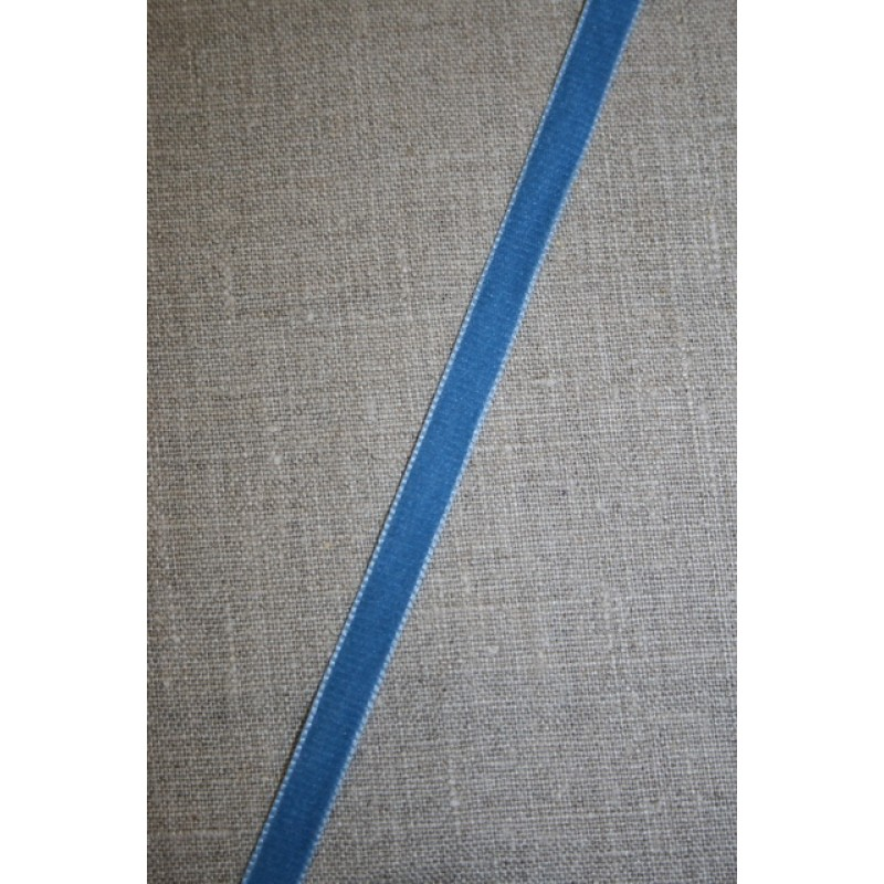 Velourbånd støvet blå 9 mm.-35