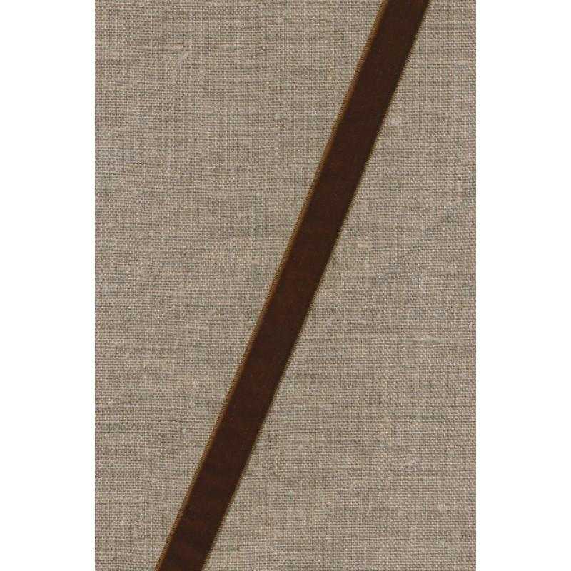 Rest Velourbånd brun 16 mm., 53 cm.-33