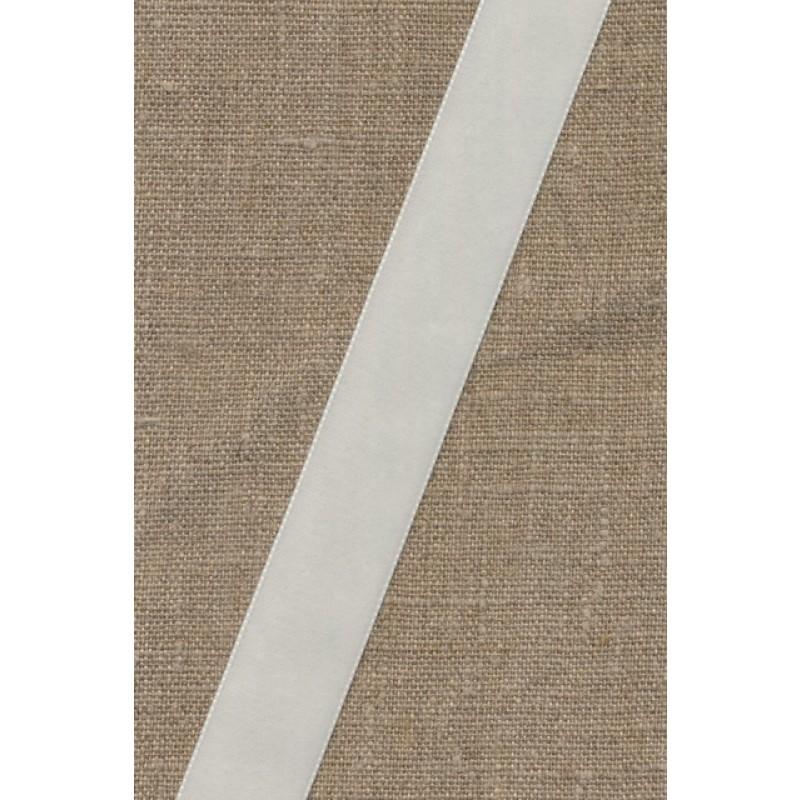 Velourbånd hvid 22 mm.-36