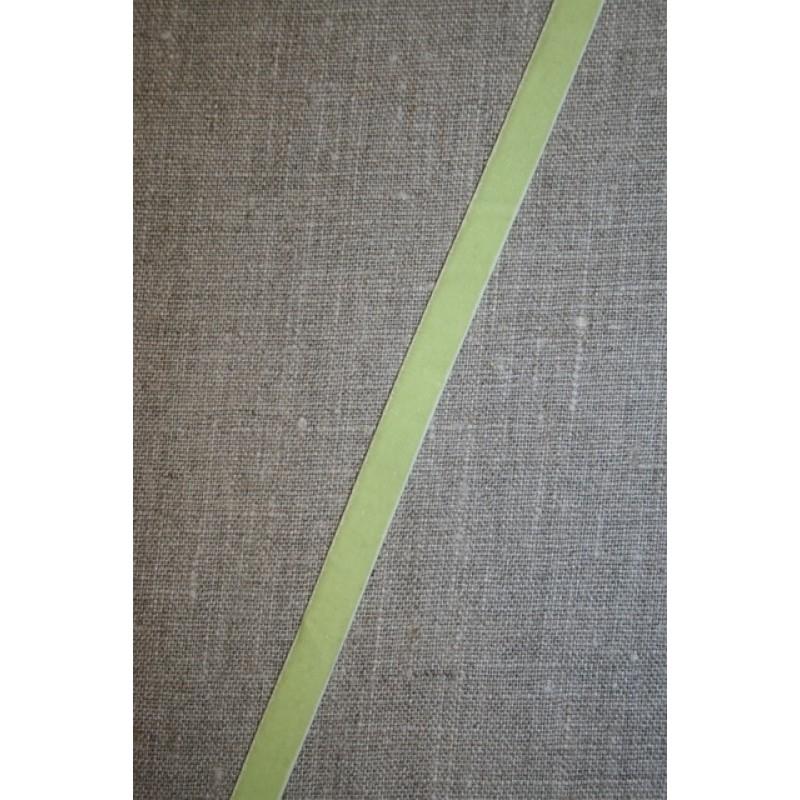 2 meter Velourbånd m/stræk, lys lime-33