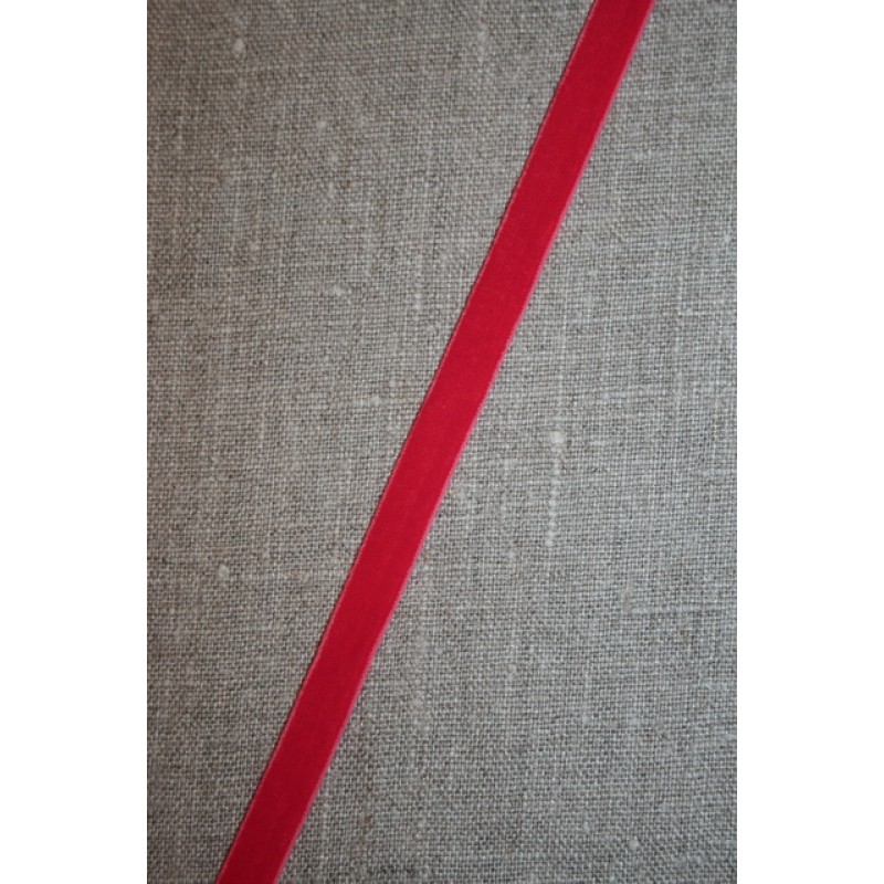 Velourbånd m/stræk, koral-rød-35