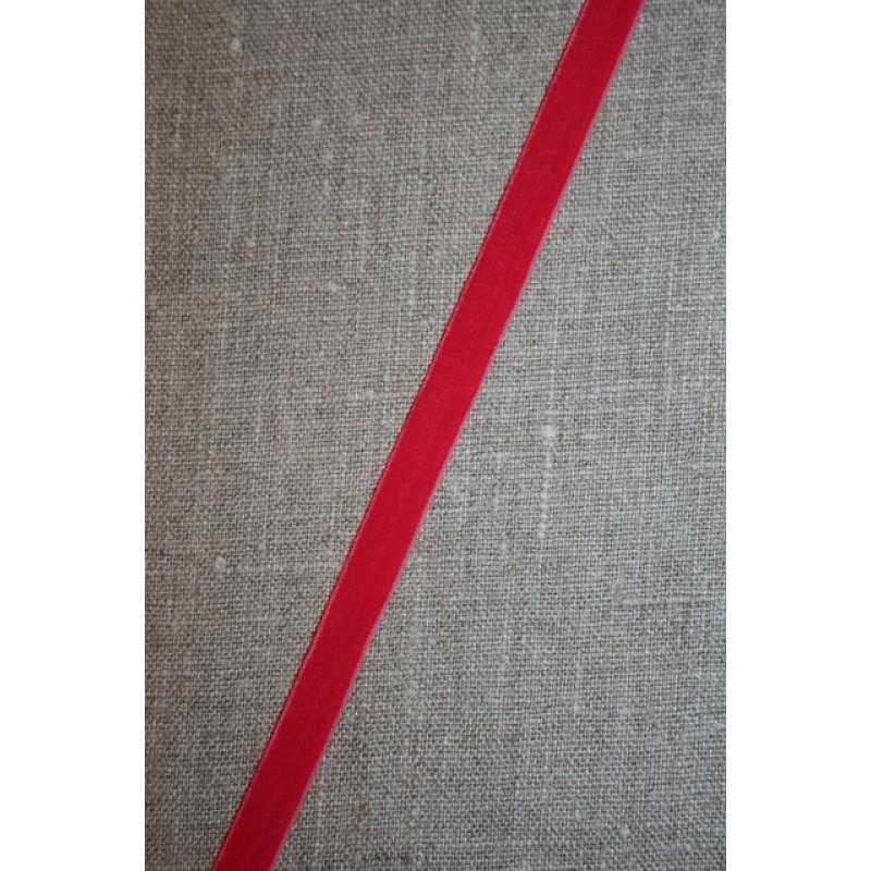 2 meter Velourbånd m/stræk, koral-rød