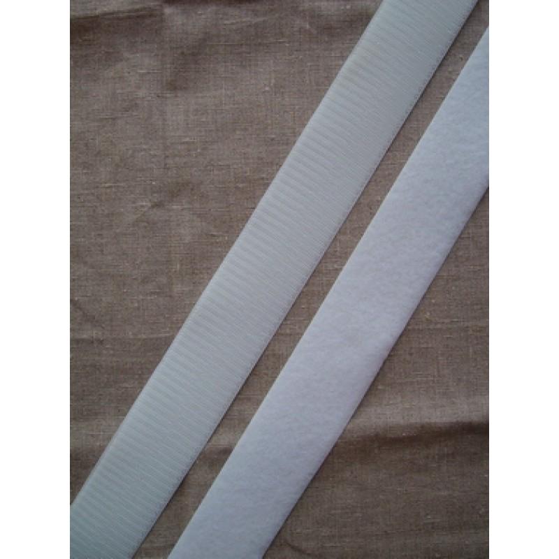 Rest 50 mm. velcro hvid, Hook 73 cm.