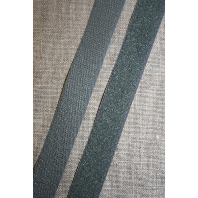 20 mm. velcro grå