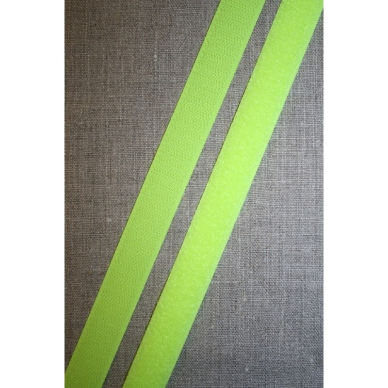 Rest 20 mm. velcro neon gul, loop/bløde del- 35 cm.