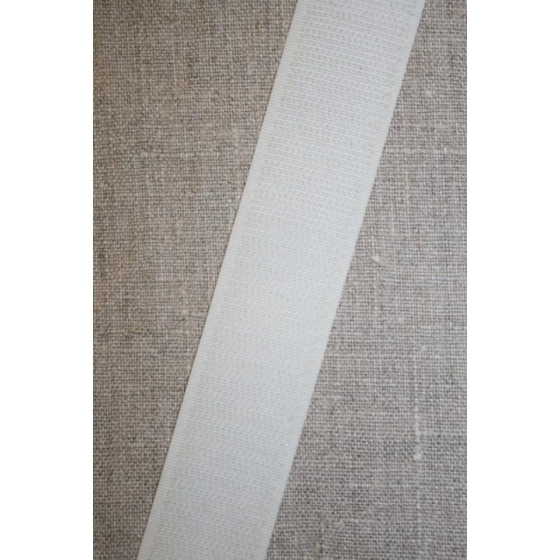 30 mm. velcro knækket hvid, hook-35
