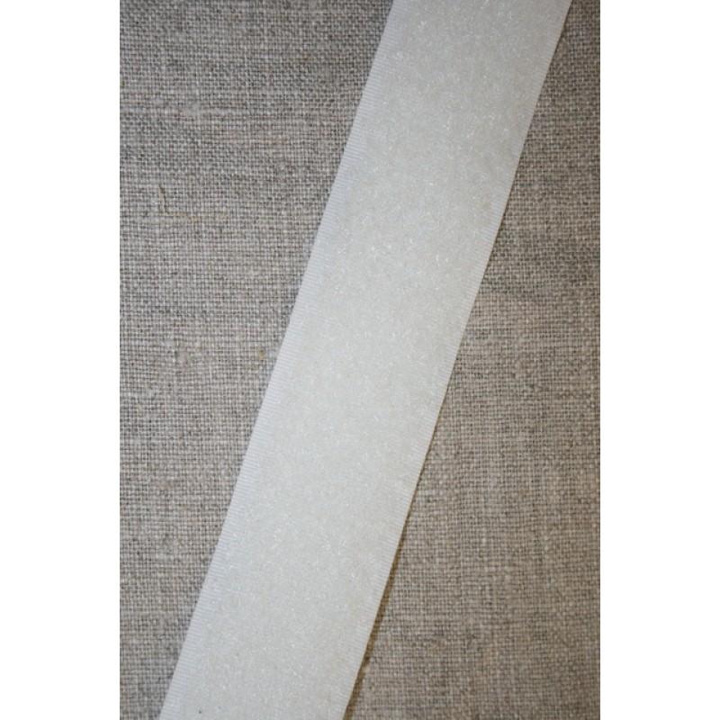 Rest 30 mm. velcro knækket hvid, loop- 80 cm.