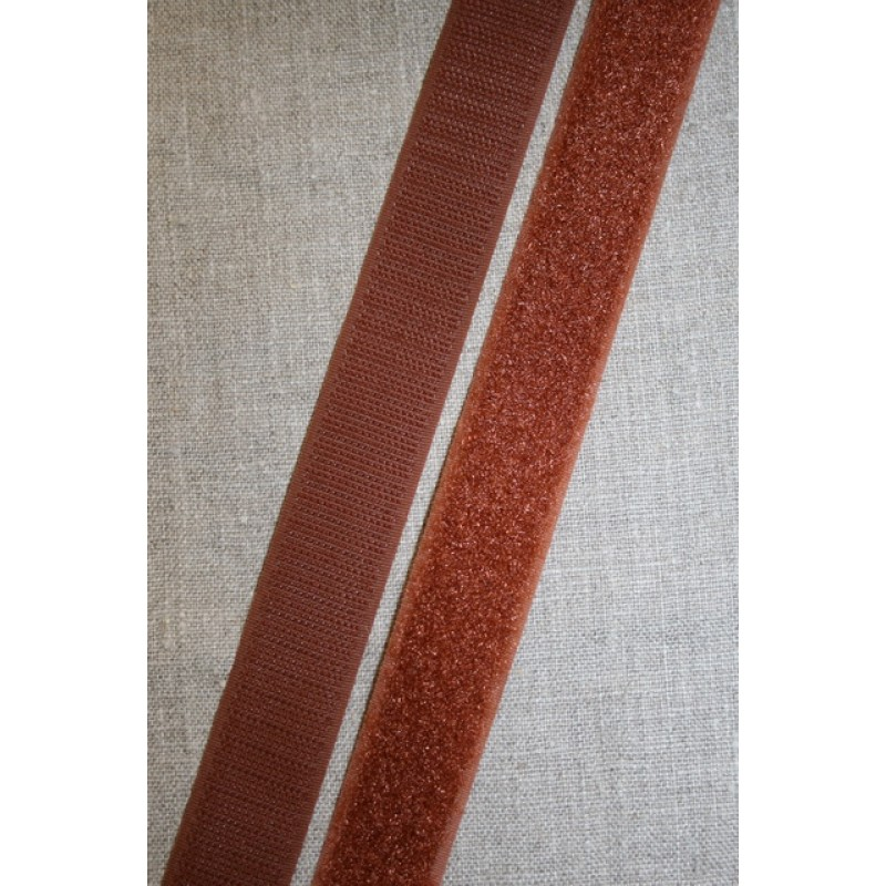 25 mm. velcro brun