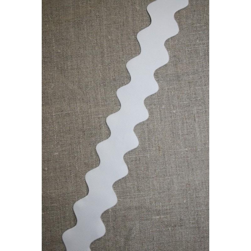 Zig-zag bånd 32 mm. hvid-31