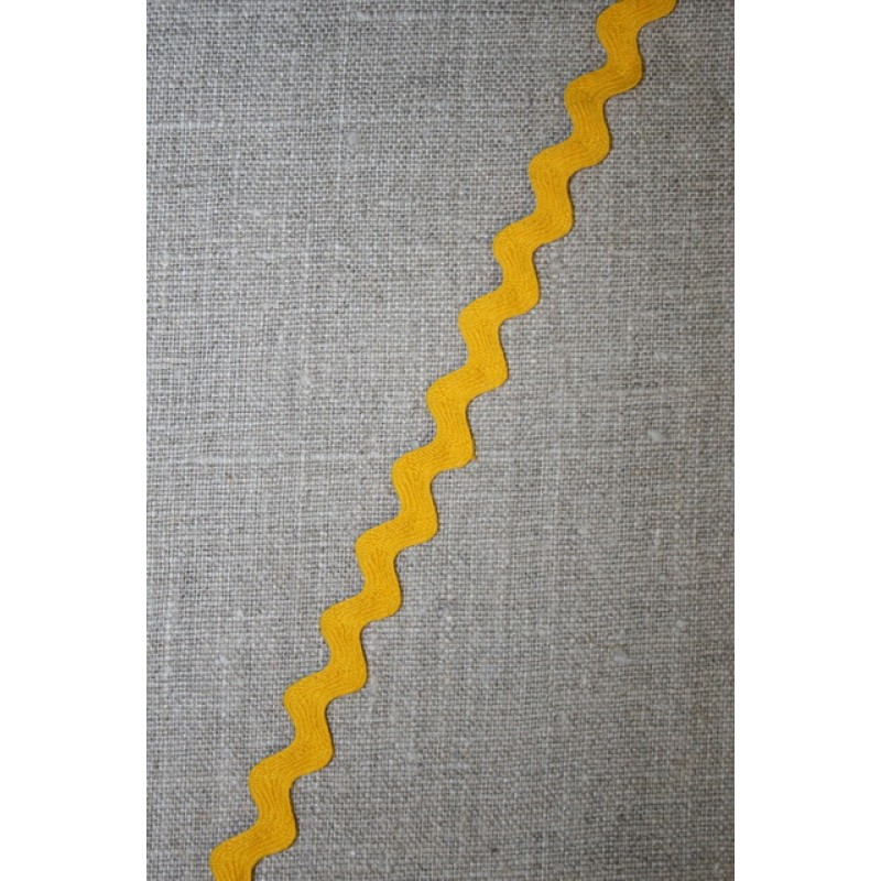 Zig-zag bånd gul 12 mm.-31