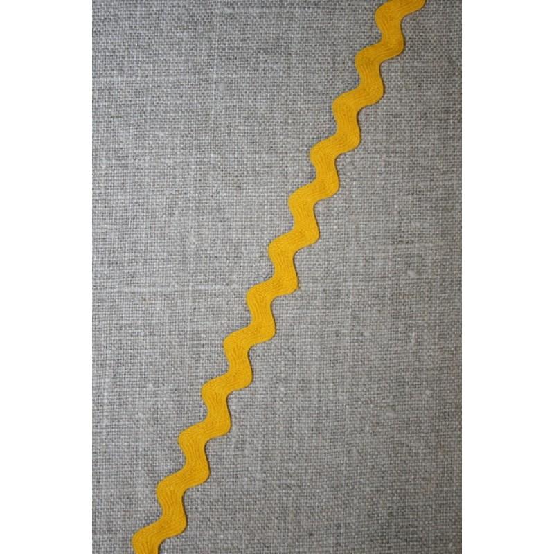 Zig-zag bånd gul 12 mm.