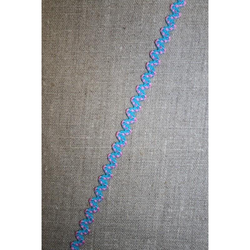 Blonde-zigzag, turkis/lyserød-31
