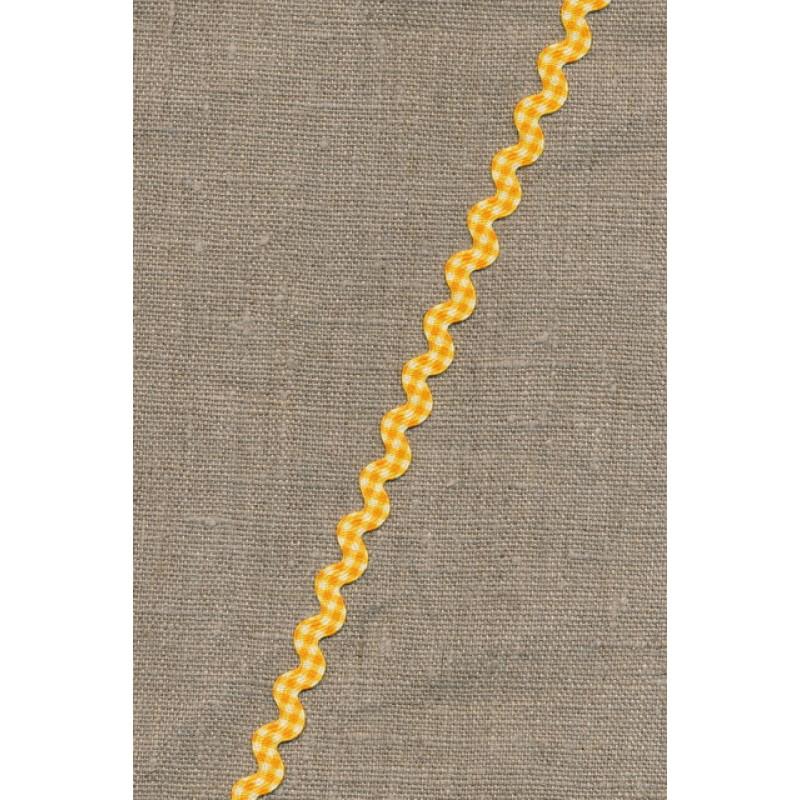 Zig-zag bånd ternet gul-35