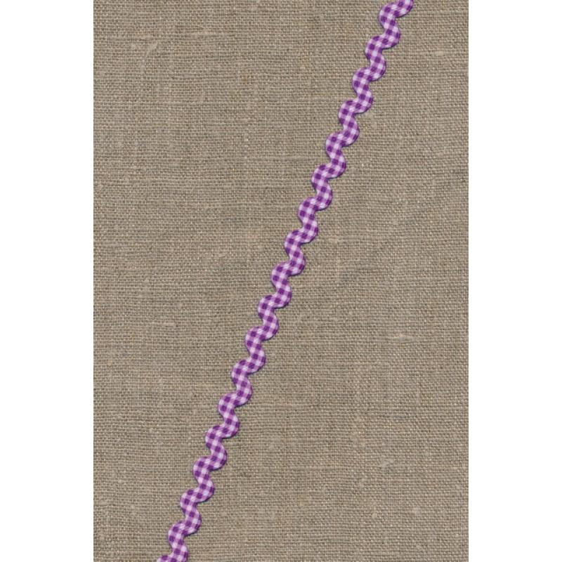 Zig-zag bånd ternet lilla