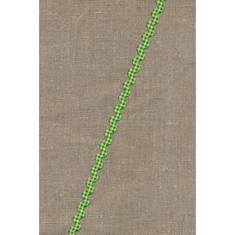 Zig-zag bånd ternet grøn-31