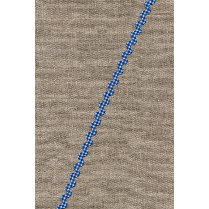 Zig-zag bånd ternet blå