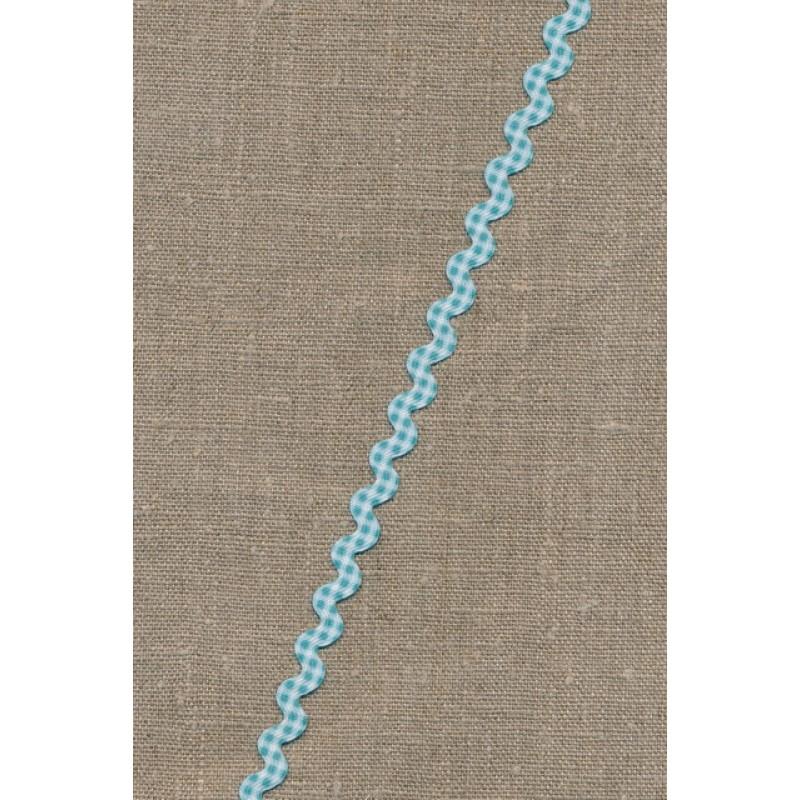 Zig-zag bånd ternet lys turkis