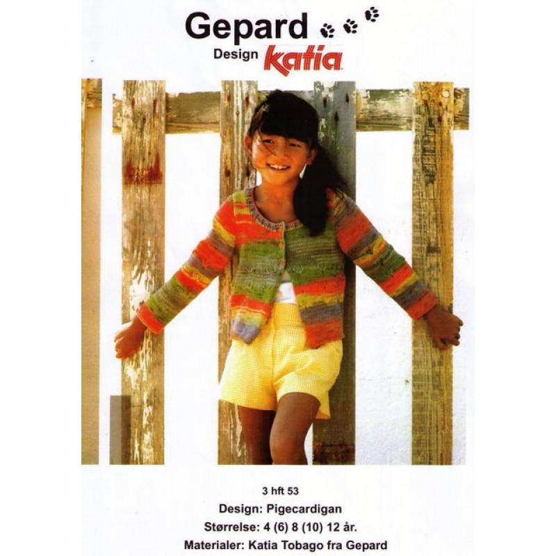 Gepard mønster Pige cardigan-31