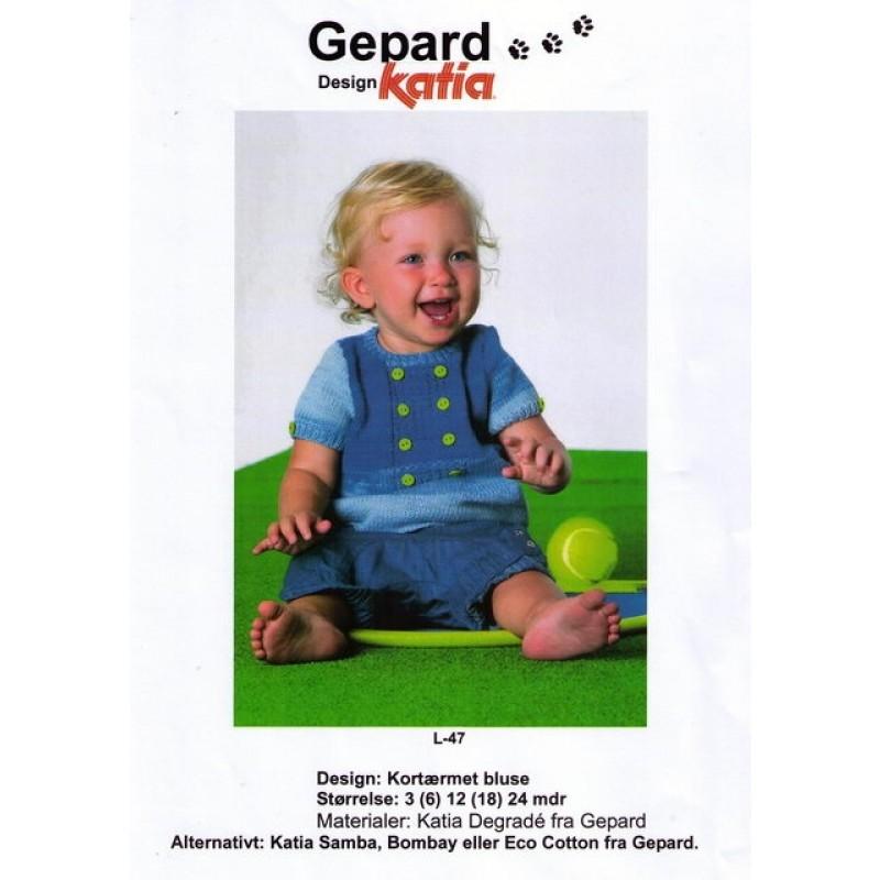 Gepard mønster Baby kortærmet bluse i Degradé