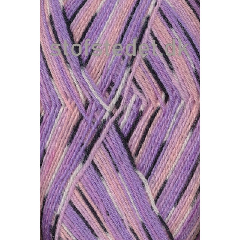 Aloe strømpegarn print rosa/syren/koks