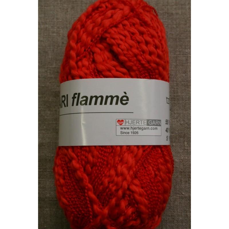 Bomuldsgarn Bari Flammé, koral-rød-35