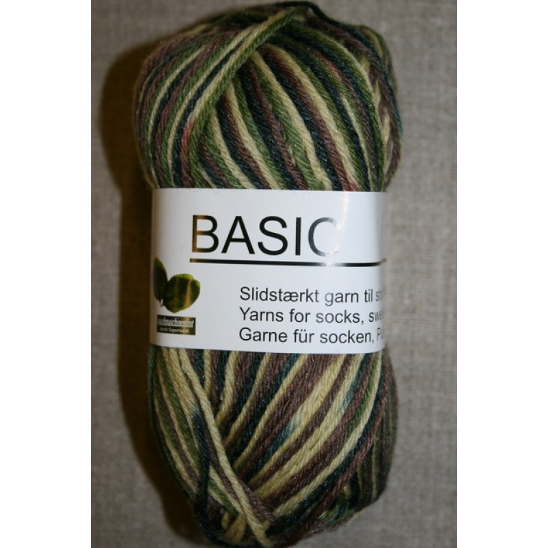 Basic uld/polyamid, Camouflage beige/army/brun/mørkegrøn-35